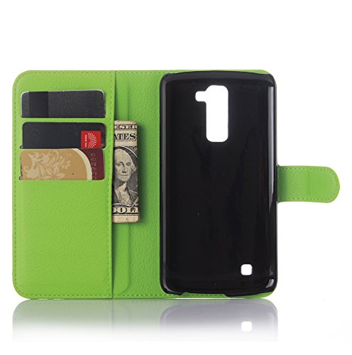 Funda LG K10(2016) /LG M2,Manyip Caja del teléfono del cuero,Protector de Pantalla de Slim Case Estilo Billetera con Ranuras para Tarjetas, Soporte Plegable, Cierre Magnético I