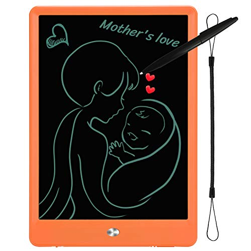 10 inch LCD Writing Tablet,Designed in California Drawing Board, Doodle Board for Kids Gifts Adults Personal Message Board Memo and Office(10, Orange)