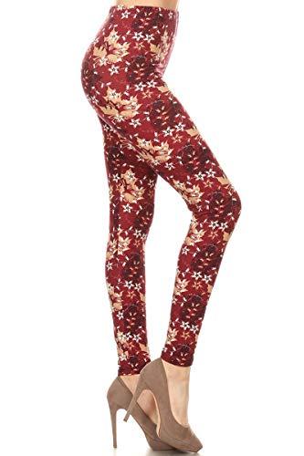 S595-OS Autumn Breeze Print Fashion Leggings