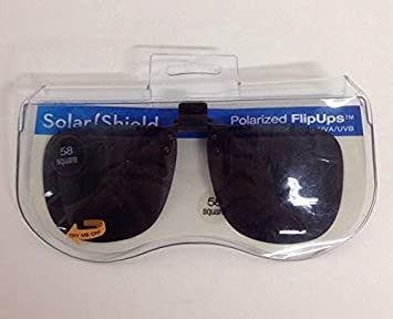 8d3affc228 Image Unavailable. Image not available for. Color  Solar Shield Polarized  Clipon Flip Ups 58 Square