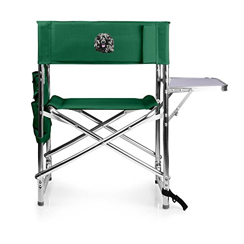 Cherrybrook Dog Breed Embroidered Picnic Time Sports Chair - Green - Portuguese Water Dog