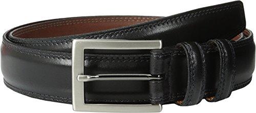 Torino Leather Co. Men's 32MM Aniline Leather Black Belt 36 (Mens Premium Leather Dress Belt)