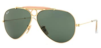 568ed5b03a1f2 Amazon.com  Ray Ban RB3138 001 58 Arista Crystal Green Shooter ...