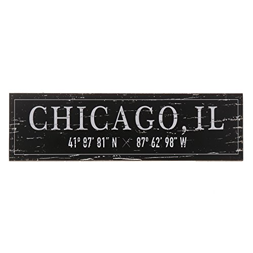 Decorative Wall Sign - Barnyard Designs Chicago, IL City Sign Rustic Distressed Decorative Wood Wall Decor 17