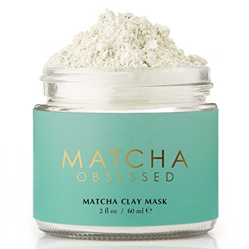 Matcha Obsessed - All Natural Organic Matcha Green Tea Clay Mask, Antioxidant, Gentle Exfoliation with Moisturizing Coconut, Reduce Acne, Remove Blackheads, Great for All Skin Type, 2 fl - Tighten To Your How Glasses