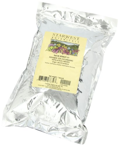 Starwest Botanicals  Rooibos Tea C/S Organic, 1-pound Bags (Pack of 2)