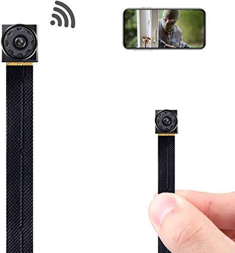 🥇 Mini Spy Camera Wireless Hidden Camera WiFi Tiny Hidden Spy Camera HD 1080P Covert Home Monitoring Security Surveillance Nanny Cam with Cell Phone App