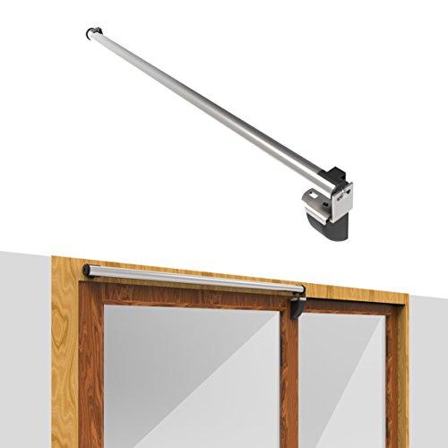 Door Jamb Extension Kit (Dazzplus Sliding Door Closer Hardware Custom Inch AL Products Easy Push Open Automatic Closing Air-Powered Door closers Residential Or Commercial For Bathroom Balcony Backyard Sliding Glass Door)