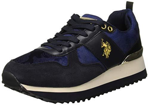 Bl dark Tabitha1 Donna Velvet Dk Blue Blu polo U s Sneaker Assn fwHSwRqA