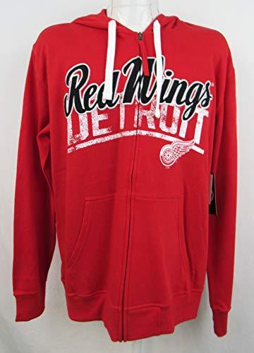 (G-III Sports Detroit Red Wings Mens Size Large Full Zip Hoodie ADRW 32 L)