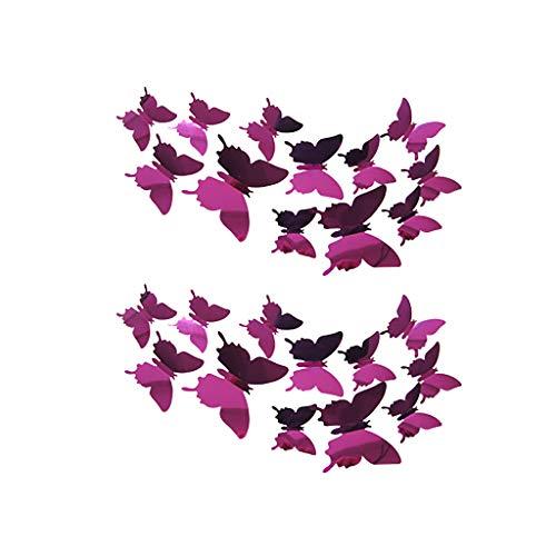 Nesee 24 PCS 3D Butterfly Wall Stickers Crafts Butterflies DIY Art Decor Home Room Decorations (Furniture Definition Design)