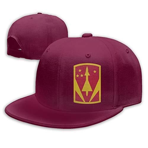 GDPOOL 31st Air Defense Artillery Brigade Hat Hip Hop Snapback Baseball Cap Dark Red