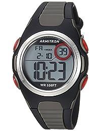 Armitron Sport Quartz Resin Fitness Watch, Color:Grey (Model: 45/7076BOG)