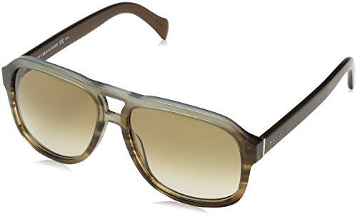 d76e821d9c97f Tommy Hilfiger Plastic Aviator Sunglasses 58 0ISK Havana Azure HA brown  gradient - Aviator Sunglasses Mens