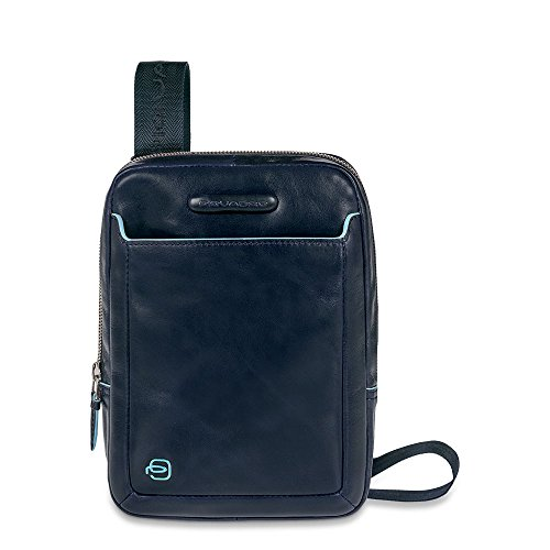 Organised Crossbody Bag Blue Square Azul