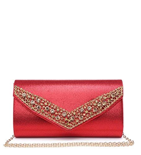 Elegant femme Fashions Elegant Fashions red Pochettes 7xq8HP5