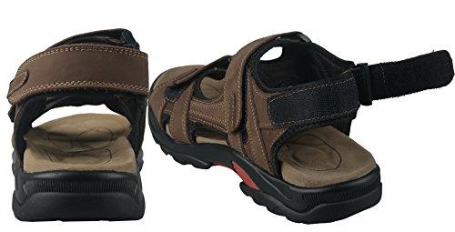 Sandales En Cuir Pour Homme Dilovesia Chaussures Dathlétisme Et Dextérieur Marron