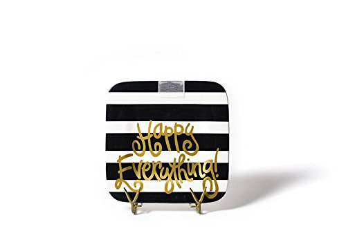 HAPPY EVERYTHING! Black Stripe Mini Platter