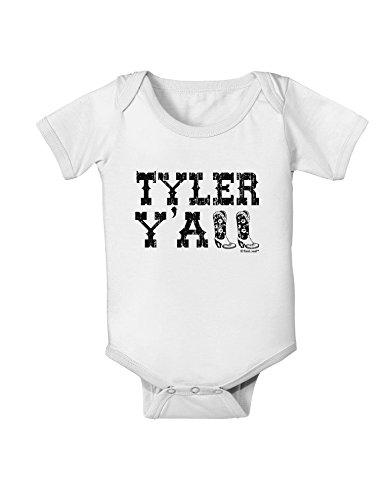 TooLoud Tyler Y'all - Southwestern Style Baby Romper Bodysuit - White - 6 ()