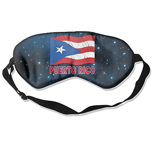 GFUN FLIOS Puerto Rico Flag Puerto Rican Sleep Mask For A Full Night's Sleep, Comfortable And Super Soft Eye Mask With Adjustable Strap