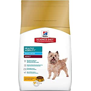 Hill's Science Diet Adult Healthy Mobility Small Bites Chicken Meal & Rice Recipe Dry Dog Food, 30-Pound Bag