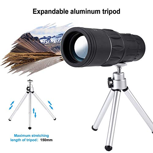 GXOK 16X52 Zoom Optical HD Lens Monocular Telescope+ Tripod+ Clip for Universal Phone