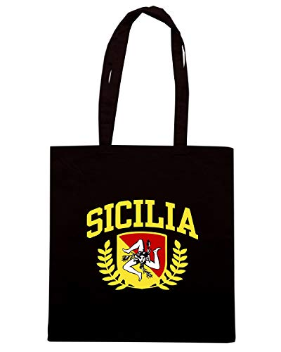 Speed Shirt Borsa Shopper Nera TSTEM0207 SICILIA