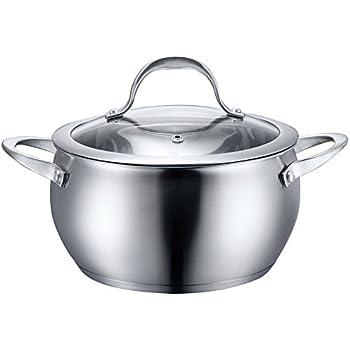 Amazon.com: Chantal SLIN32-160 Induction 21 Steel Soup Pot with ...