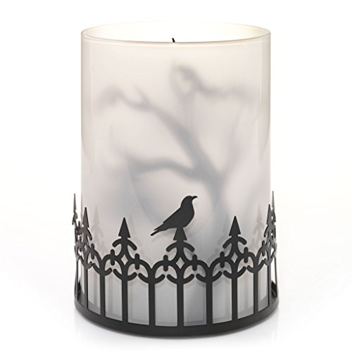 [Yankee Candle Halloween Silhouettes Foggy Nights Tea Light Candle Holder] (Halloween Candles)