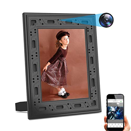 Hidden Camera DICPHIL Spy Camera Photo Frame Home Security Camera Wireless HD 1080P with Night Vision PIR Detection 1…