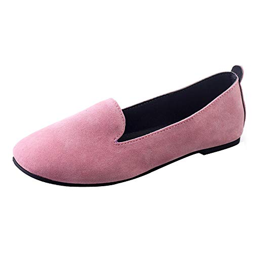 Jane Patent Watch - ONLY TOP Women's Classic Flats Memory Foam Cushioned Soft Daily Slip-on Casual Sneaker Flat Shoes Light Pink
