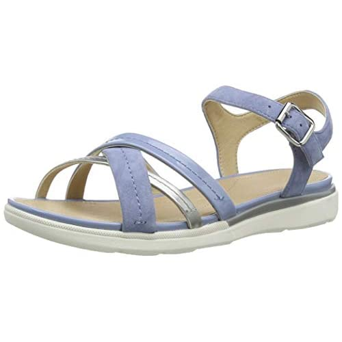 chollos oferta descuentos barato Geox D Sandal Hiver A Sandalias con Punta Abierta para Mujer Azul Lt Blue Silver C0009 38 EU
