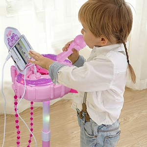Anpro Kids Karaoke Machine with 2 Microphones & Adjustable Stand, Microphone Music Toy Play Set Music Player Best Birthday Gift for Kids by Anpro (Image #7)