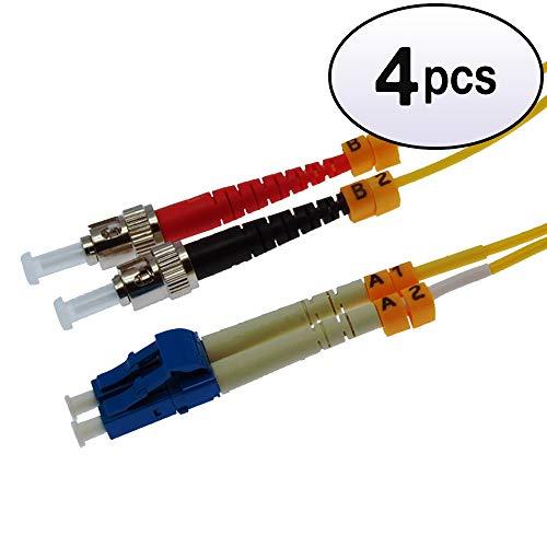 (GOWOS (3 Pack) 3m LC-ST Duplex Singlemode 9/125 Fiber Optic Cable)