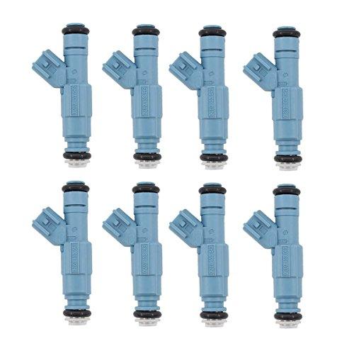 (8pcs New 4 Nozzle Fuel Injectors for Dodge Chrysler 4.7L V8 0280155849 )