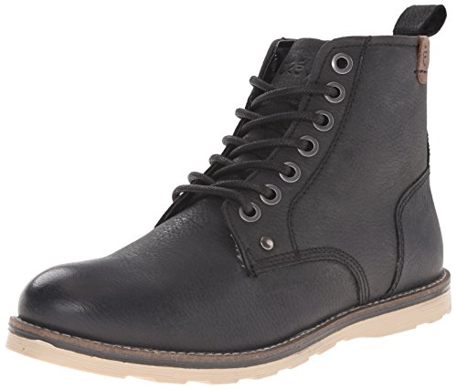 Crevo Men's Ranger Winter Boot, Black Leather, 9 M US