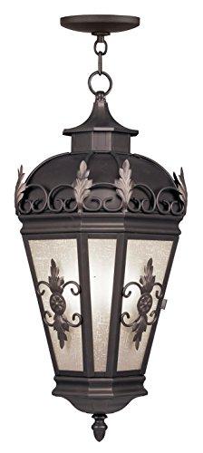 Livex Lighting 2199-07 Berkshire 3-Light Outdoor Hanging Lantern, Bronze