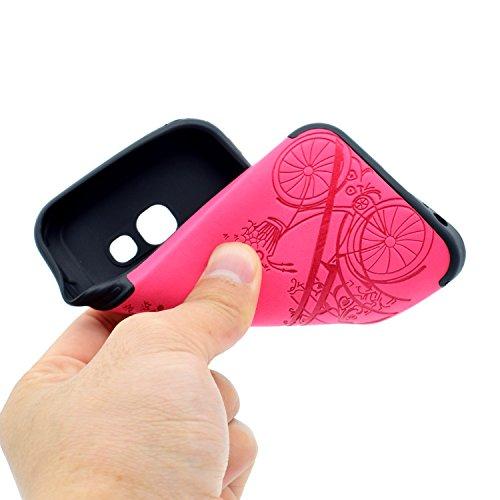 inShang Funda para Samsung Galaxy A3(2017) suave TPU Carcasa Cajas Soporte Skin case cover Para Galaxy A3(2017) + clase alta 2 in 1 inShang marca negocio Stylus pluma Rose tower