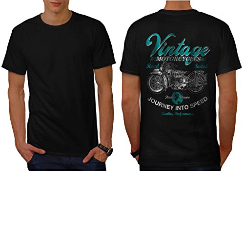 Vintage Motorcycles Biker Rider Men NEW M T-shirt Back | Wellcoda