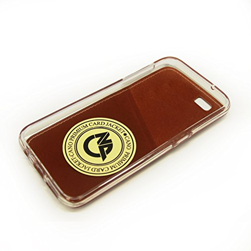 Caso iPhone 7, Cellto [Monedero Delgado] [Delgado] cubierta de la caja protectora de silicona resistente a arañazos del gel de goma suave de la piel de Apple iPhone 7 - Marrón Monedero fina - Marrón