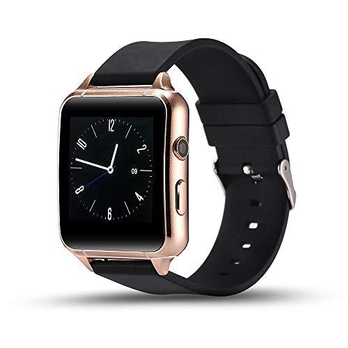 ZUZEN Smart Watch PPG Heart Rate Sleep Positioning Step 300MP Camera Card Call Watch,Gold