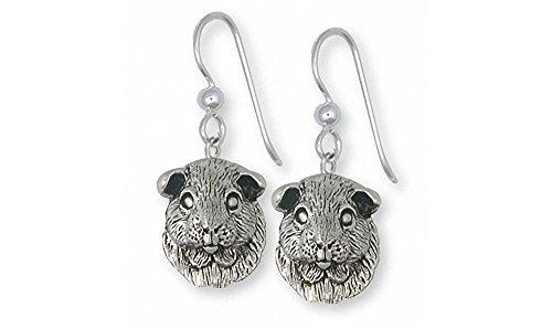 Guinea Pig Jewelry Sterling Silver Guinea Pig Earrings Handmade Piggie Jewelry GP2-E