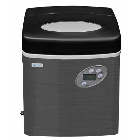 Newair Three ice sizes Stainless Steel Portable Ice Maker with Indicator lights