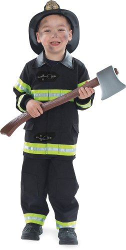 Firefighter Black Child Costume(2 to 4-As Shown)