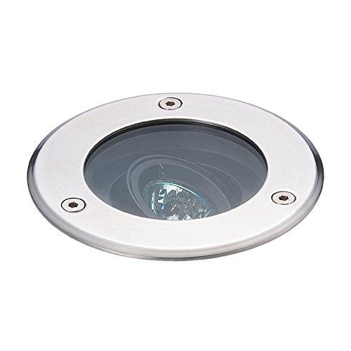 Eurofase 14754-012 In-Ground Circular MR16 1-Light Uplight, Stainless Steel