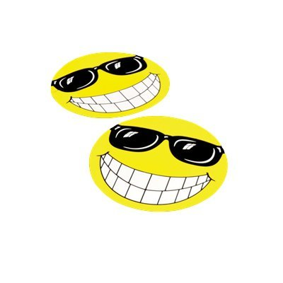 Happy Face With Sunglasses Windshield Decal For Car And Truck - With Face Happy Glasses