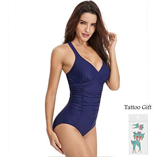 Mujer Trajes de Baño Una Pieza V-Cuello Push-up Monokini Push-up Acolchado Adelgazante Bikini