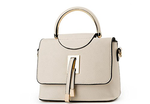 El nuevo bolso, nuevas mujeres europeas y americanas bolsas, bolsos, bolsas creamy-white