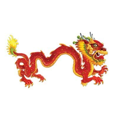 Beistle 57782 Jointed Dragon, 6-Feet ()