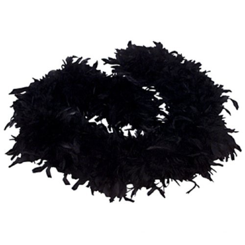 6' Black Play Fancy Dress Up Toy Feather Boa -